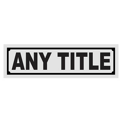 Any Title Any Color Helmet Window Reflective Title Decal Sticker