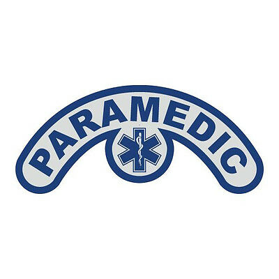 Paramedic Extended Helmet Crescent with Star of Life Reflective Decal Sticker