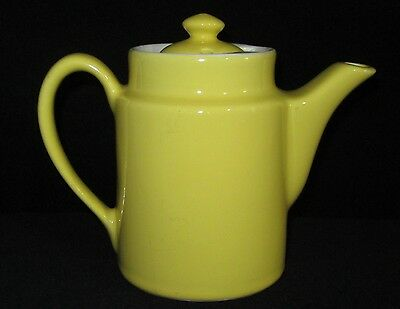 "Hall Yellow Restaurant Ware Teapot Tea Pot 4 1/2"" Tall Some Damage Chips"