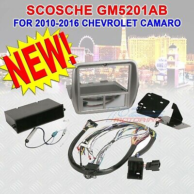 Scosche Gm5201Ab Single / Double Din Dash Kit For 2010-2014 Chevrolet Camaro