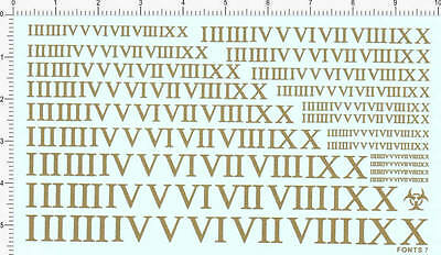letter decals for Roman numerals (golden) fonts 7