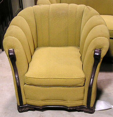 Circa 1930's - 1950's Chair, Yellow