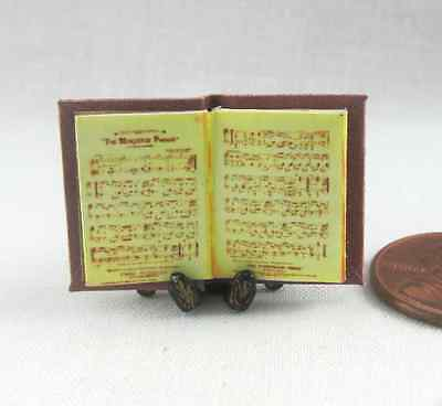 PIANO SHEET MUSIC Miniature Book Dollhouse 1:12 Scale Illustrated Book Artist