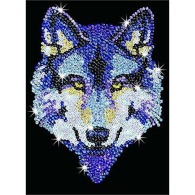 Sequin Art Wolf Craft Kit 1215 FREE POSTAGE