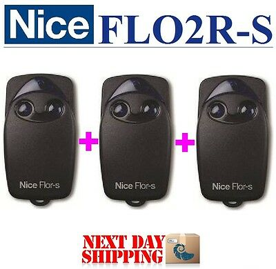3 X FLO2R-S Nice, 2-channel FLOR-S Remote control transmitter 433,92MHz. 3pc's!!