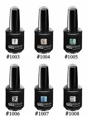 Jessica Geleration Soak-off Gel Nail Polish Glitters 2014 Set Of 6