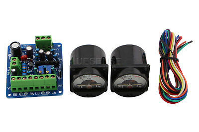 2PCS Panel VU Meter Warm Back Light Audio Level Amp w/ VU Driver Board Kit