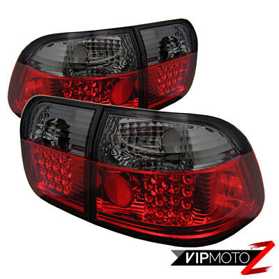 Honda Civic 1996-1998 4-Door Sedan JDM SMOKE/RED Tail Light Trunk Inner Lamps