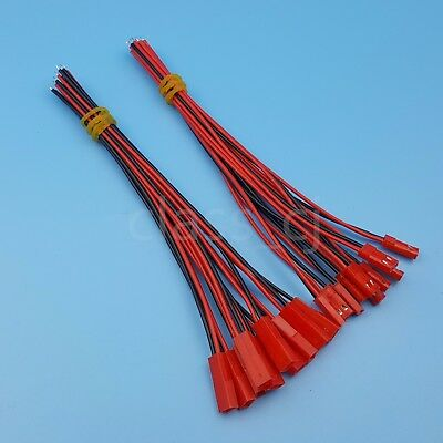 10Pairs JST 2P 15cm Male and Female 24AWG Wire Connector for DIY RC Model