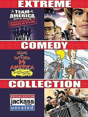 Extreme Comedy Collection (DVD) , Team America, Beavis & Butthead, Jackass NEW*