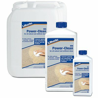Lithofin MN Power Clean - Marble/Limestone/Granite/Slate/Stone Cleaner All Sizes