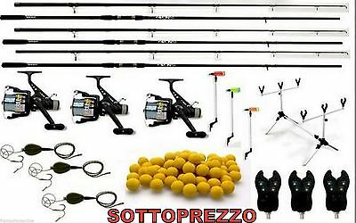 combo completo carp fishing canne mulinelli rod pod avvisatori boilies hair rig