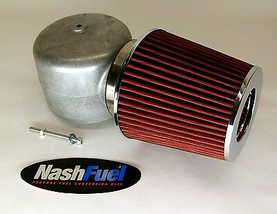 "IMPCO ADAPTER AIR FILTER CLEANER CT425M PROPANE MIXER 425 SNORKEL LPG 3.5"" HORN"