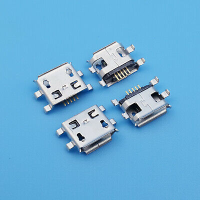 10Pcs Micro USB Type B Female 5P Shen Board 0.8 PCB Solder Socket Connector