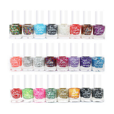 48 x Glitter Nail Polish Varnish Set for Artificial Nails 24 Different Shades