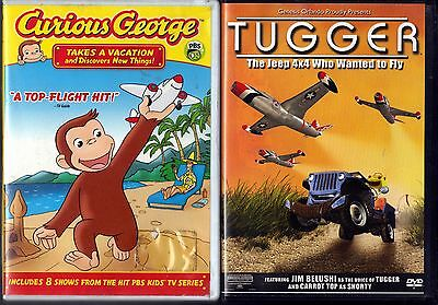 Curious George: Takes a Vacation and Discovers New Things (DVD, 2008) & Tugger