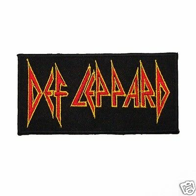 Def Leppard Punk Rock Band Logo Patch Embroidered Iron On Patches For T Shirt