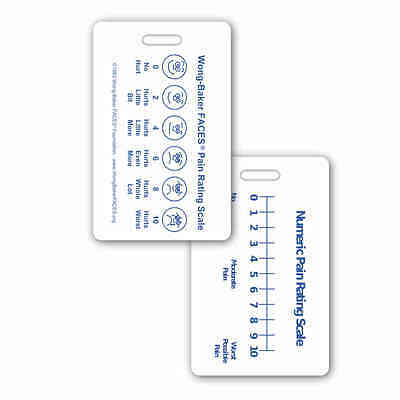 Wong-Baker FACES® Pain Rating Scale Vert w/ NRS RN EMT Paramedic MA MD Medic PA