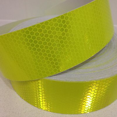 Hi-Vis Yellow Green Vehicle Safety Reflective Tape 50mm x 2m Roll