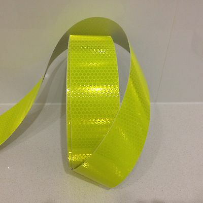 Hi-Vis Yellow Adhesive Vehicle Safety Reflective Tape 50mm x 2m Roll
