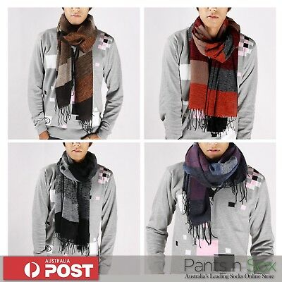 Mens Fashion Scarf Winter Scarves Black Navy Red Green Gift Korean Scarf