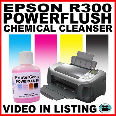 Epson R300 Print Head Cleaner:  Nozzle Cleanser for Unblocking Problem Clogs