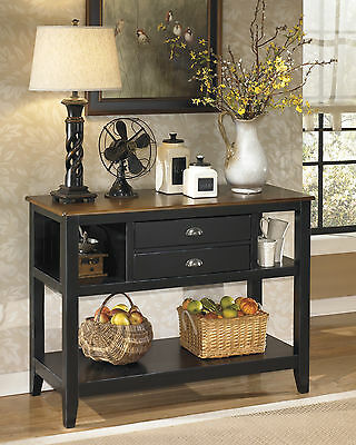 black brown traditioinal server dining room vintage buffet sideboard