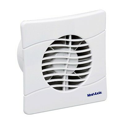 """Vent Axia 436533 Kitchen / Utility Room Extractor Fan 150mm / 6"""" Model BAS150SLB"""