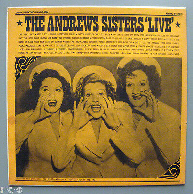 The Andrews Sisters - Live ~ Recorded Over Three Decades  Lp Andros Records