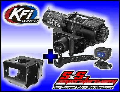 2500 lb KFI Stealth Winch Combo Polaris Sportsman 550 850 XP 11+ 400 500 570 800