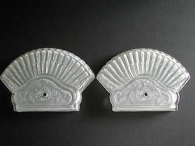 Vintage Frosted Glass Wall Sconce Shades Grape Design (2)