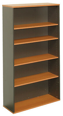 RAPID OFFICE WORKER BOOKCASE CBC12 -Adjustable Shelves,white/beech/cherry