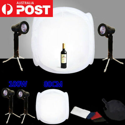 Photography Photo Cube Tent Soft Box Light Lighting Stand Backdrop Studio Kit