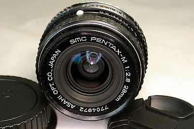 Pentax-M Asahi 28mm f2.8 SMC Lens Adapted to Canon EOS cameras digital Rebel T3i