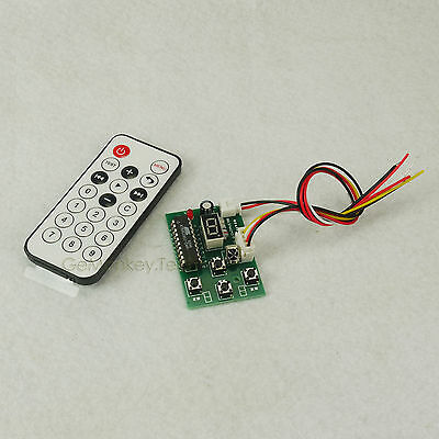 IR Stepper Motor Speed Forward Reverse Remote Controller Board LED Display