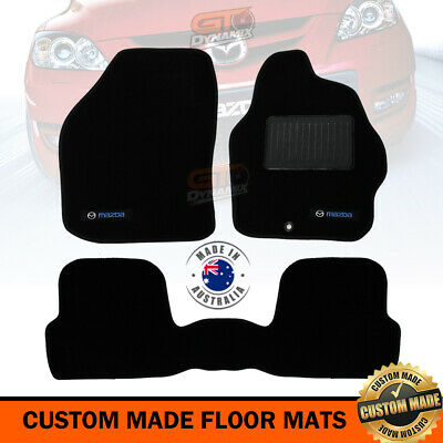 MAZDA 3 BK CUSTOM MADE FLOOR MATS F + R 01/2004-2008 Hatch + Sedan BLACK