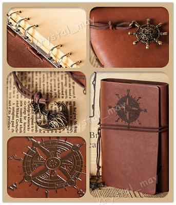 Handmade Travel Blank Bound Vintage Retro Leather Cover Notebooks Journals Diary