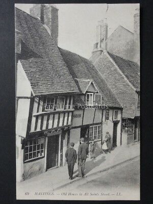East Sussex: LL.69 HASTINGS Old Houses in All Saints Street c1908 showing Shop