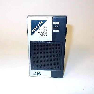 Vintage Collectible GRAN PRIX Pocket AM Transistor Radio Model  A100