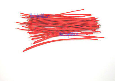 1007 26AWG, Red Color Wire Length : 200mm  end to end solder 50 pcs