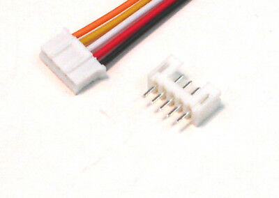 JST 2.0mm PH 5-Pin Male Female Connector with wire x 10 Sets