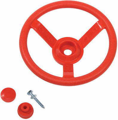 Playground Steering Wheel RED Cubby House Accessories Equipment Cubbies Toys NEW