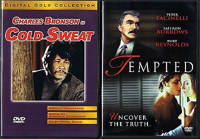Cold Sweat (DVD, 2002) & Tempted (DVD, 2001) - 2 Brand New DVDs