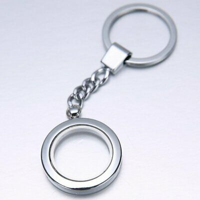 Hot Stainless Steel Living Floating Charm Memory Locket Key Keychain buckle Gift