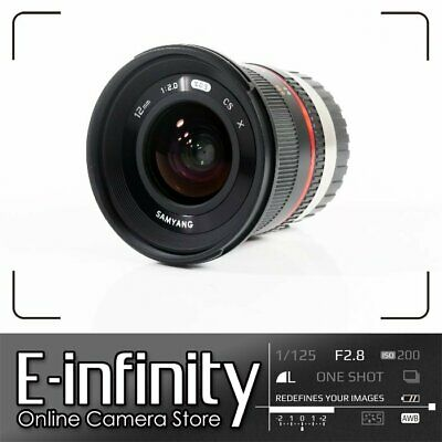 NEW Samyang 12mm f/2.0 NCS CS Lens for Fujifilm X Mount (Black)