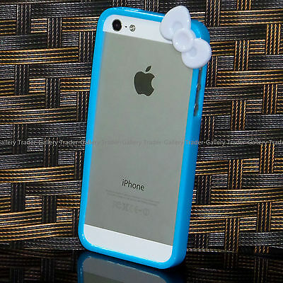 Cute Hello Kitty Knotbow Shape Bumper Case Cover for iPhone 5 5S Fast US Ship