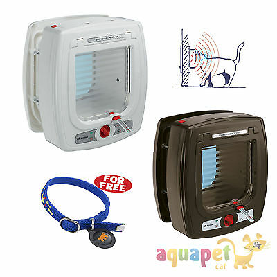 Ferplast Swing Microchip Cat Flap with Collar & Microchip (Optional Tunnel Ext) • EUR 90,81