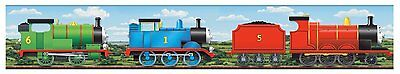 THOMAS THE TRAIN SCENIC PREPASTED WALLPAPER BORDER Tank Engine Wall Decor