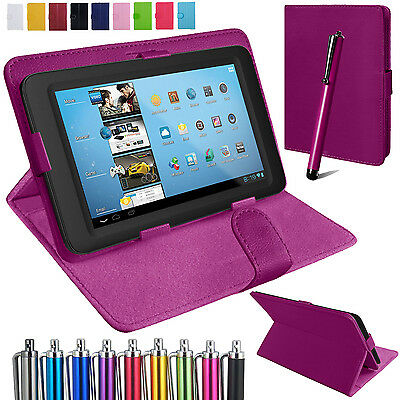 Universal Leather Stand Folding Folio Case Cover Pouch For All 7 Inch Tablets