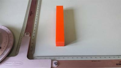 "1"" x 1"" X 6""  URETHANE / POLYURETHANE 80 A ORANGE BAR P/N 11008"